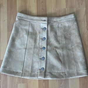 Forever 21 suede tan skirt